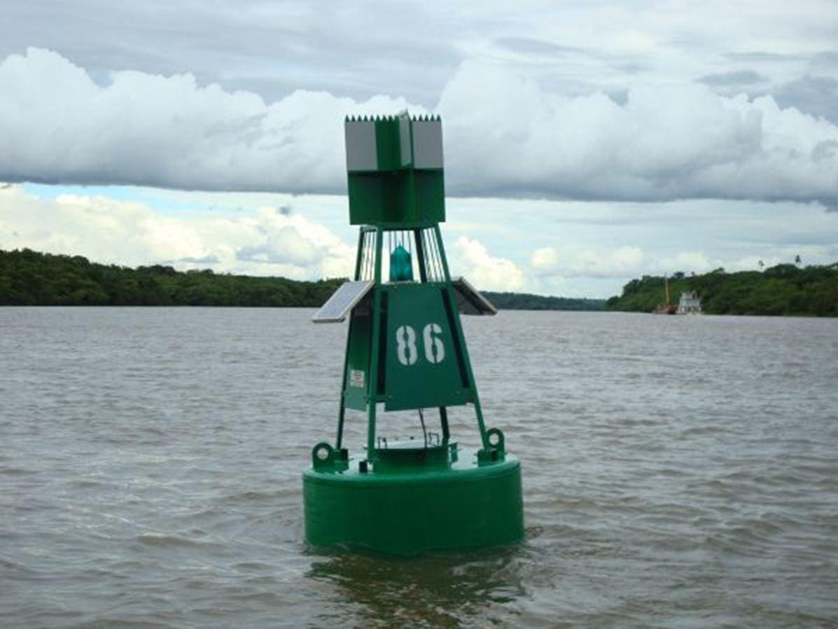 Boias sinalização náutica